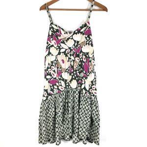 Anthropologie Lilka Floral Print Tiered Dress
